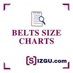 Belts size charts