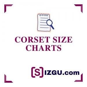 Corset size charts