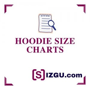 Hoodie size charts