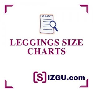Leggings size charts