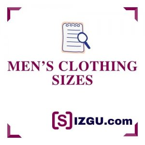Men's clothing sizes
