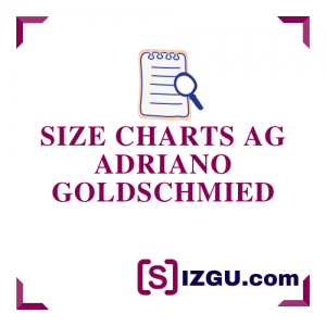 Size Charts AG Adriano Goldschmied