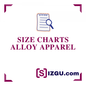 Size Charts Alloy Apparel