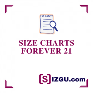 Size Charts Forever 21