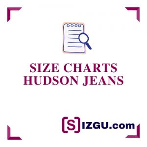 Size Charts Hudson Jeans
