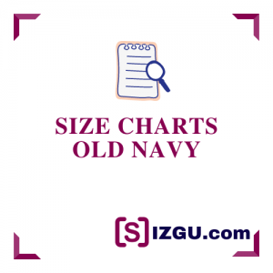 Size Charts Old Navy