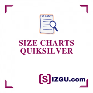 Size Charts Quiksilver