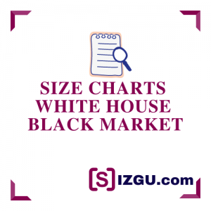 Size Charts White House Black Market