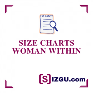 Size Charts Woman Within