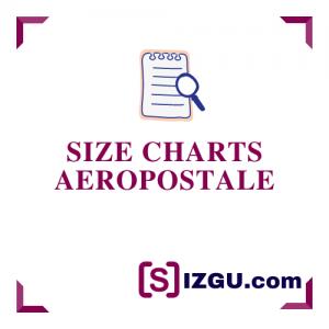 Size charts Aeropostale