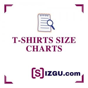 T-shirt size charts
