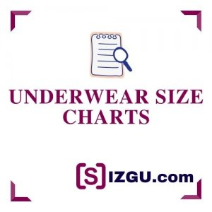 Underwear size charts