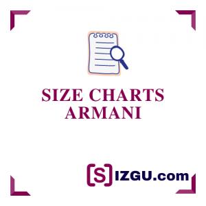 Size Charts Armani