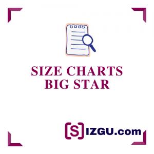 Size Charts Big Star