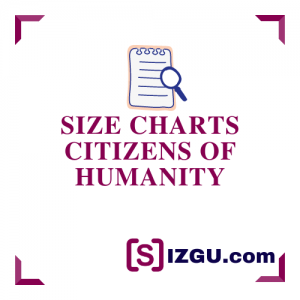 Size Charts Citizens of Humanity