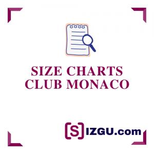 Size Charts Club Monaco