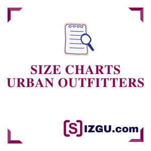 Size Charts Urban Outfitters