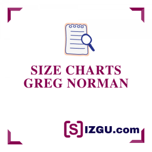 Size Charts Greg Norman