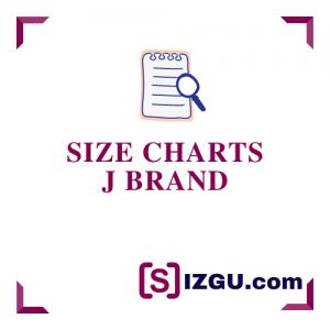 Size Charts J Brand