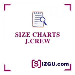 Size Charts J.Crew