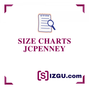 Size Charts JCPenney