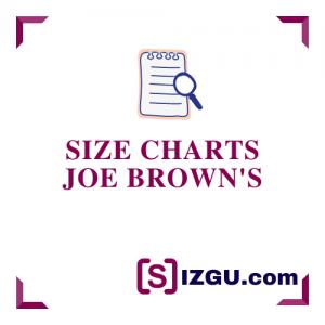 Size Charts Joe Brown's