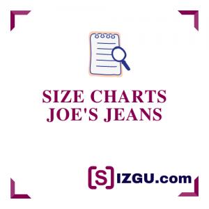 Size Charts Joe's Jeans