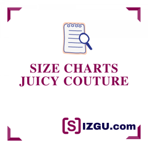 Size Charts Juicy Couture