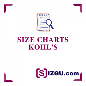 Size Charts Kohl's