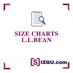 Size Charts L.L.Bean