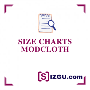 Size Charts ModCloth