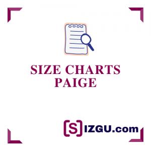 Size Charts Paige