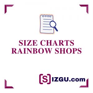 Size Charts Rainbow Shops