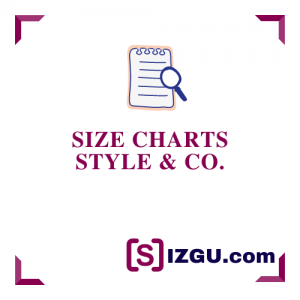 Size Charts Style & Co.