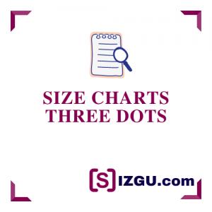 Size Charts Three Dots