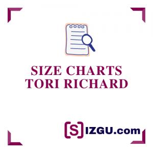 Size Charts Tori Richard