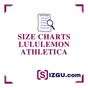 Size Charts lululemon athletica