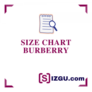 Size Chart Burberry