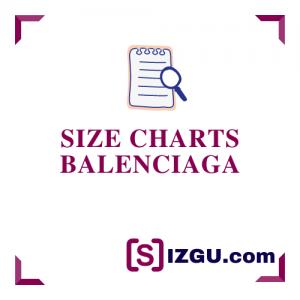 Size Charts Balenciaga