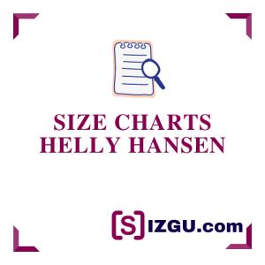 Size Charts Helly Hansen