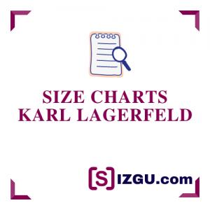 Size Charts Karl Lagerfeld