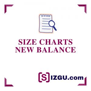 Size Charts New Balance