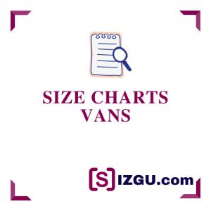 Size Charts Vans